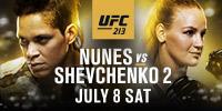 UFC 213: Nunes vs. Shevchenko 2 Sábado 8 de julio a las 10:00 p. m. - $59.95