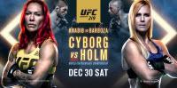 UFC 219: CYBORG VS. HOLM Sábado 30 de diciembre a las10:00 p. m. - $59.95